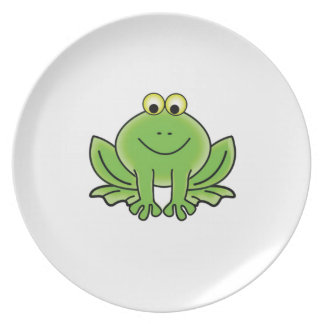 bug eyed frog dinner plate