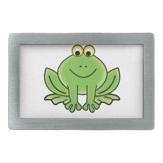 bug eyed frog rectangular belt buckle