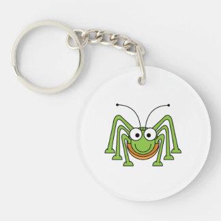 Bug Eyed Grasshopper Cartoon Keychain