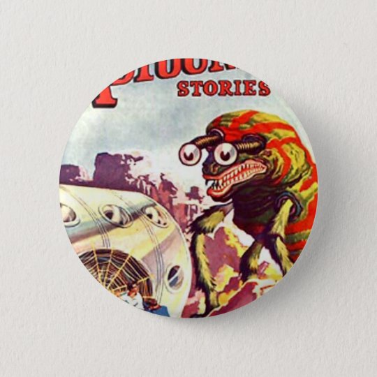 Bug Eyed Moon Monster 2 Inch Round Button