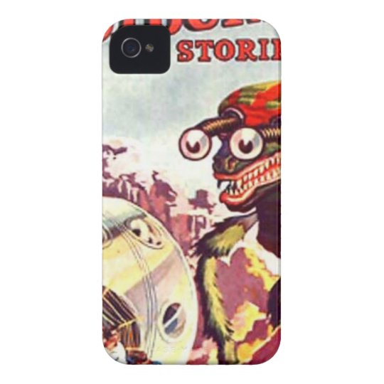 Bug Eyed Moon Monster iPhone 4 Case-Mate Case