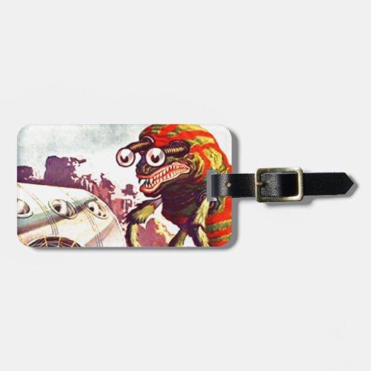 Bug Eyed Moon Monster Luggage Tag