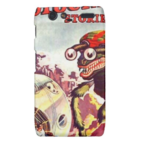 Bug Eyed Moon Monster Motorola Droid RAZR Cover