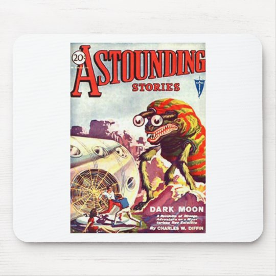 Bug Eyed Moon Monster Mouse Pad