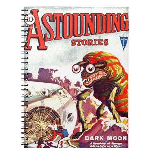 Bug Eyed Moon Monster Notebook