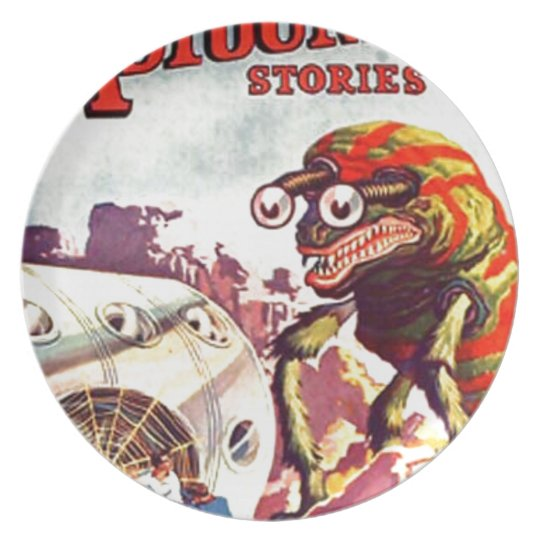 Bug Eyed Moon Monster Plate