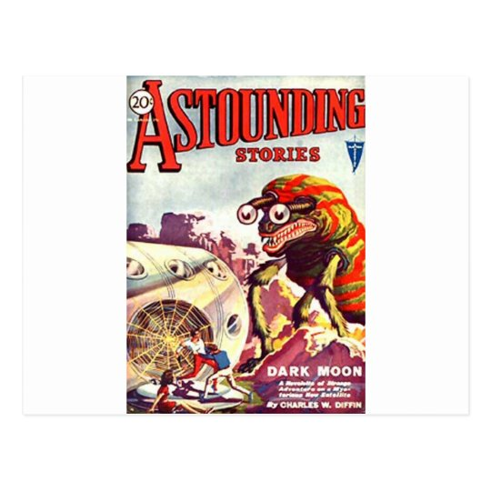 Bug Eyed Moon Monster Postcard