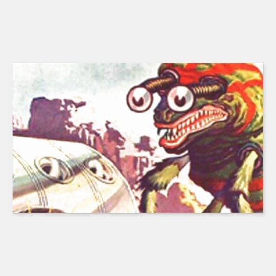 Bug Eyed Moon Monster Sticker