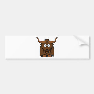 bug eyes yak bumper sticker