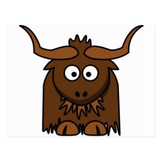 bug eyes yak postcard