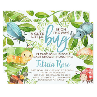 Bug Insect Baby Shower Invitation Invite