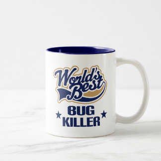 Bug Killer Gift (Worlds Best) Two-Tone Coffee Mug