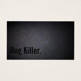 Bug Killer Pest Control Elegant Black Business Card