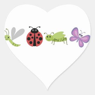 Bug Life Heart Sticker