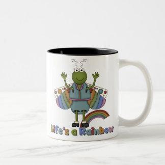 Bug Life's a Rainbow Two-Tone Coffee Mug