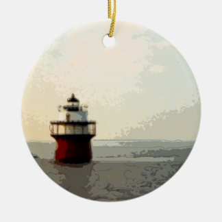 Bug Light Duxbury Pier Lighthouse Ceramic Ornament