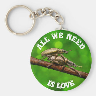 Bug Lovers On The Branch Funny Basic Round Button Keychain