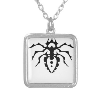 BUG SILVER PLATED NECKLACE
