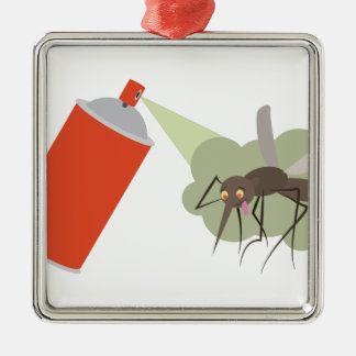Bug Spray Metal Ornament