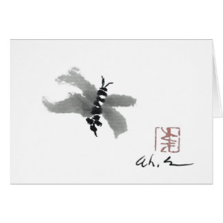 Bug, Sumi-e by Andrea Erickson Card