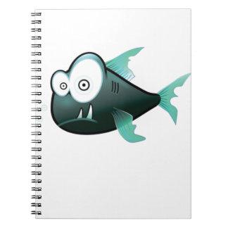 bugged eyed crazy fish notebook