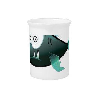 bugged eyed crazy fish pitcher
