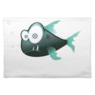 bugged eyed crazy fish placemat