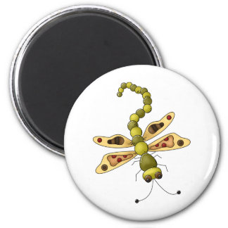 Buggin' You Again · Beige & Green Dragonfly 2 Inch Round Magnet