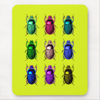 Bugging Out: Colourful Beetle Bugs Mouse Pad