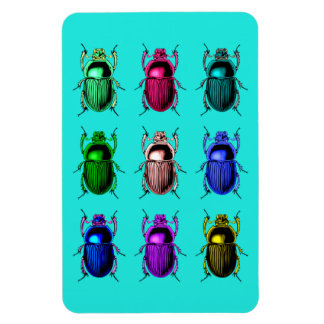 Bugging Out: Colourful Beetle Bugs Rectangular Photo Magnet
