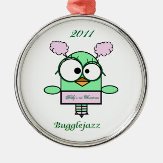 Bugglejazz  Baby's 1st Christmas 2011 Metal Ornament