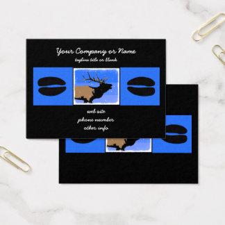 Bugling Elk in Winter Business Card
