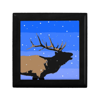 Bugling Elk in Winter Gift Box