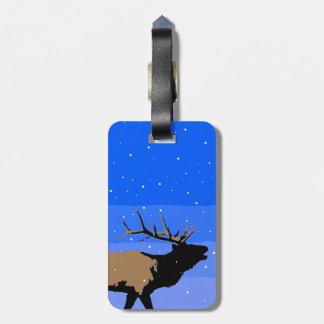 Bugling Elk in Winter Luggage Tag