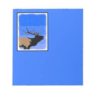 Bugling Elk in Winter Notepad