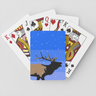 Bugling Elk in Winter Playing Cards
