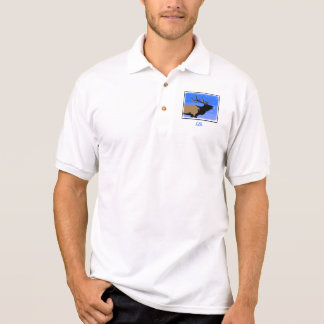 Bugling Elk in Winter Polo Shirt
