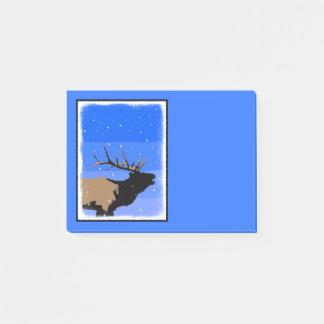 Bugling Elk in Winter Post-it® Notes