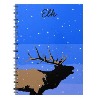 Bugling Elk in Winter Spiral Note Book