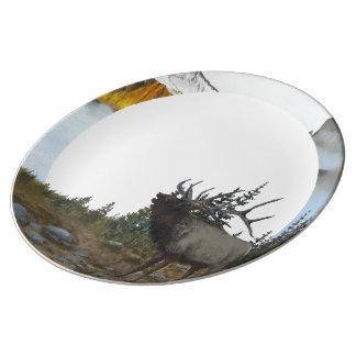 Bugling Elk Plate