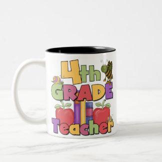 Bugs and Apples 4th Grade Teacher Mugs