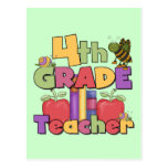 Bugs and Apples 4th Grade Tshirts and Gifts Postcards