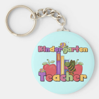 Bugs and Apples Kindergarten Teacher Keychain