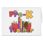 Bugs and Apples Pre-K Teacher Cards