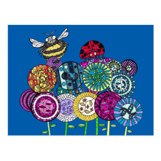 Bugs and Fleurs Postcards
