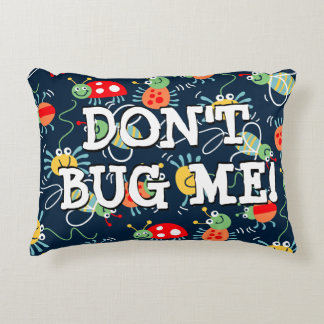 Bugs, bees and spiders decorative pillow