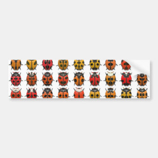 Bugs, Bugs, Bugs - Bugs Pattern Bumper Sticker