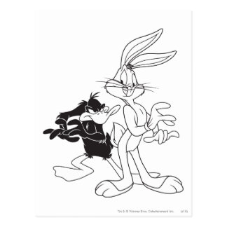 BUGS BUNNY™ and DAFFY DUCK™ Postcard