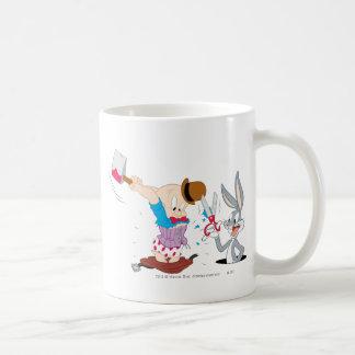 Bugs Bunny and Elmer Fudd Mugs