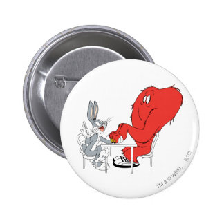 BUGS BUNNY™ and Gossamer 2 2 Inch Round Button